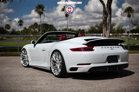 lowered porsche 911 porscheboost who s hotter white 991 2 carrera cabriolet