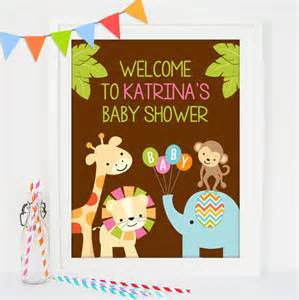 baby shower welcome sign welcome sign safari baby shower printable welcome sign jungle