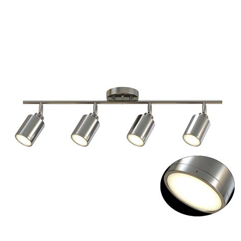 brushed nickel track lighting kits glasgow 31 in rubbed bronze and antique brass