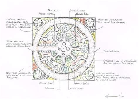 Keyhole Garden Layout A Mandala Garden Incorporates Fruit Vegetables And Companion Planting As Well As A Place To