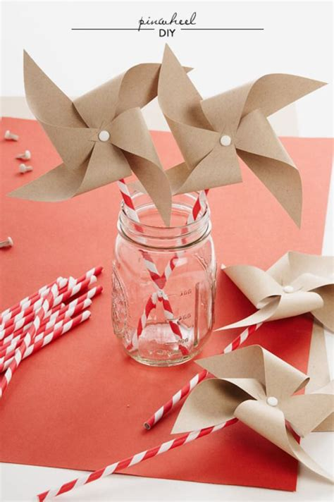 A Paper Pinwheel - pinwheel diy from paper source