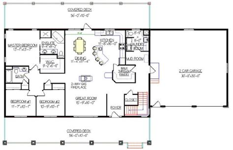 Walkout Bungalow Floor Plans | bungalow with walkout basement plan 2011545 really like