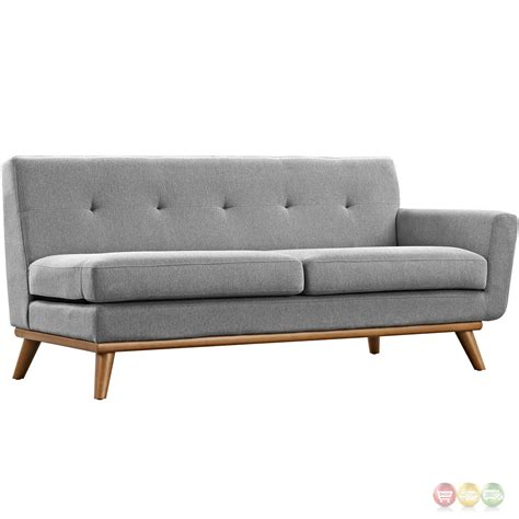 Tufted Sectional Sofa Engage Contemporary 5pc Button Tufted Fabric Sectional Sofa Gray