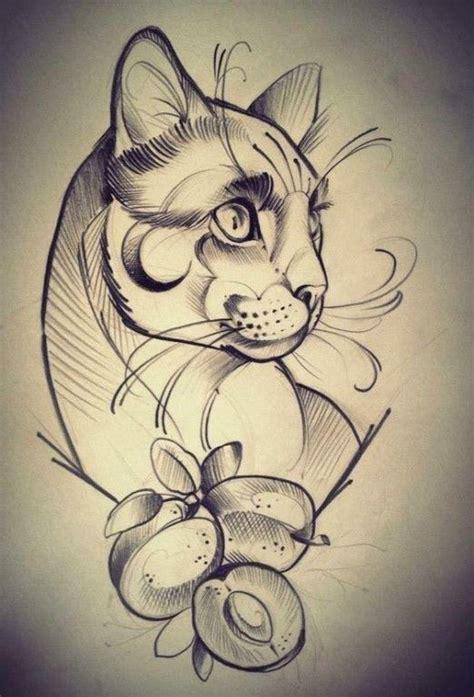 tattoo sketch cat 9 одноклассники beauty pinterest tattoo tatoo and cat