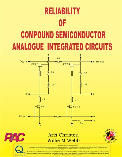 semiconductor integrated circuit structure reliability of compound semiconductor analogue integrated circuits quanterion solutions
