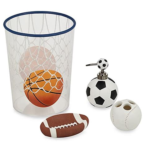 Football Bathroom Accessories All Sports Bath Ensemble Bed Bath Beyond