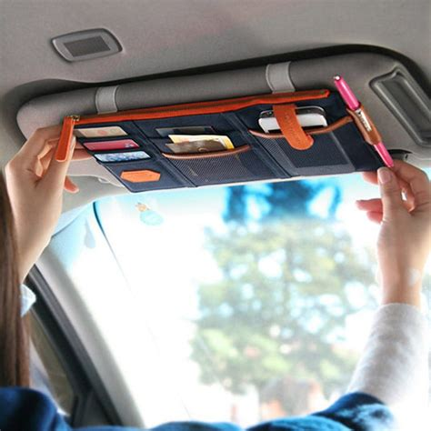 Sun Visor Aylaagya Ori 1pc 2 urijk 1pc car sun visor hanging organizers eyeglasses holder clip credit card ticket package