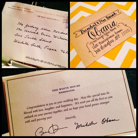 sending a wedding invitation to the white house we sent our wedding invitation to the president couldn t
