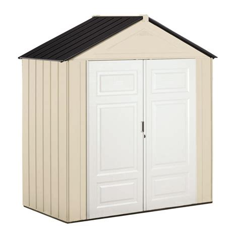 Rubbermaid Big Max Jr Shed by Rubbermaid Big Max Junior 3 Ft 5 In X 7 Ft Storage Shed 1862549 The Home Depot