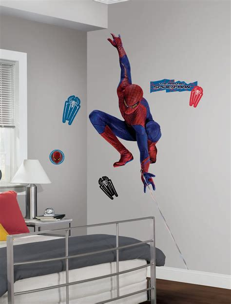 spiderman home decor roommates spiderman amazing spider man w web peel