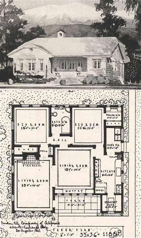 california bungalow house plans 1916 california bungalow floor plan villa californian