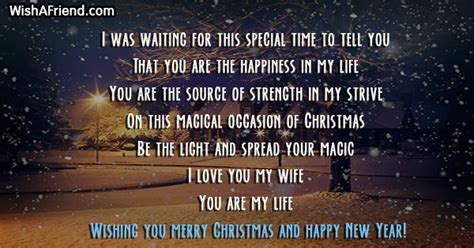 waiting   special christmas message  wife