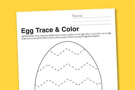 egg pattern worksheet egg trace color preschool worksheet paging supermom