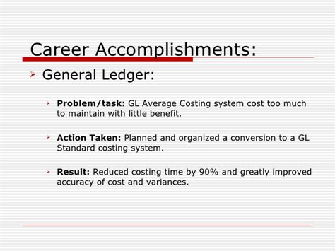 career accomplishments