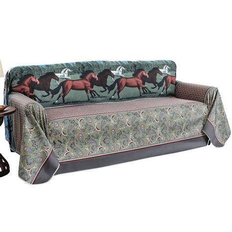 western throws for sofas western running horses protective furniture throw ebay