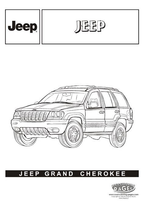 coloring pages jeep grand cherokee 23 best images about cars coloring pages on pinterest