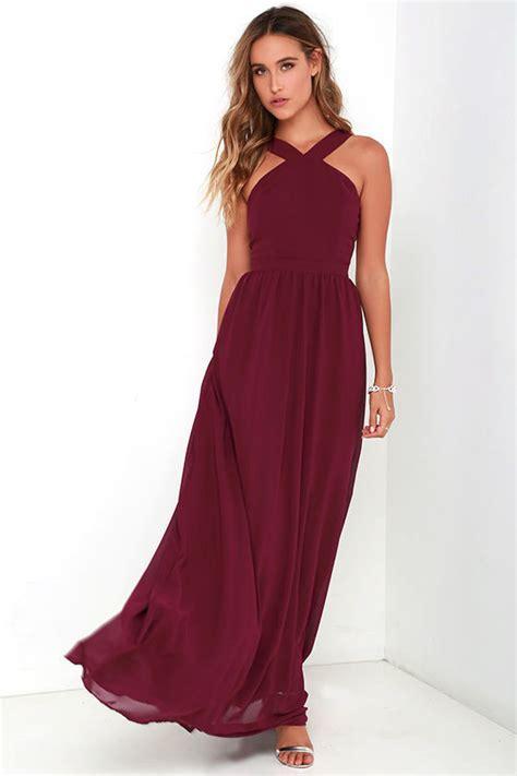Maxi Dress Hamidah Dress Maroon Nv31 1 beautiful burgundy dress maxi dress halter dress 68 00