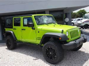 lime green jeep coches impresionantes