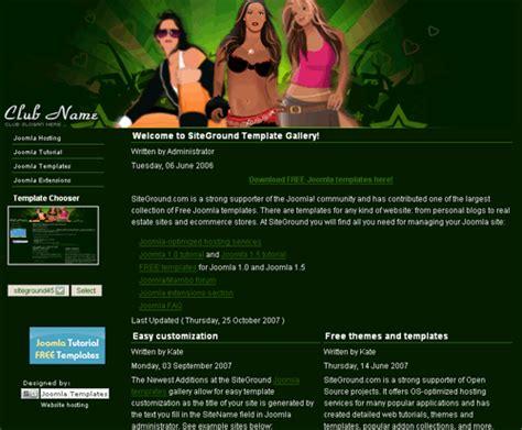 themes joomla 3 4 free joomla nightclub black sexy web2 0 template