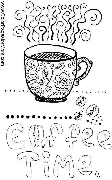 Coloring Pages For Adults Coffee | coloring pages for adults coffee coloring page 21