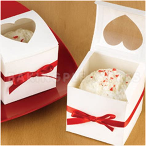 Box Cupcake 6pcs white cupcake boxes with window