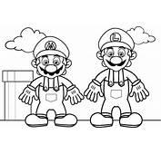 Dibujos Para Pintar De Mario Bros Colorear