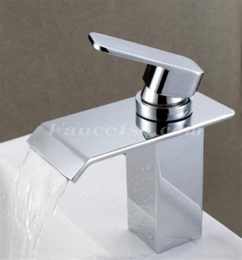 waterfall bathroom faucets contemporary waterfall bathroom sink faucet chrome finish