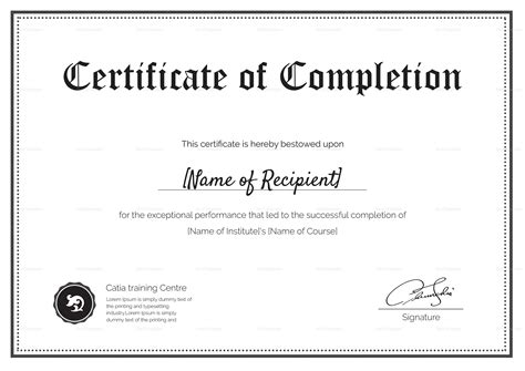 Blank Completion Certificate Design Template In Psd Word Blank Certificate Of Completion Template Word