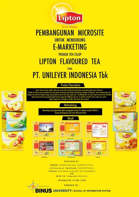 email unilever indonesia pembangunan microsite untuk mendukung e marketing produk