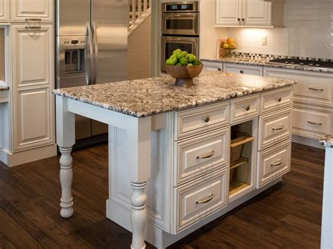 white kitchen with granite countertops this designer style island colors