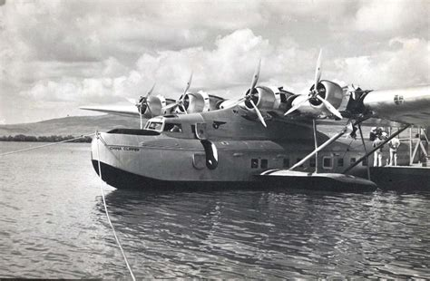 pan am flying boat pan am clipper flying boat above captain ed musick at