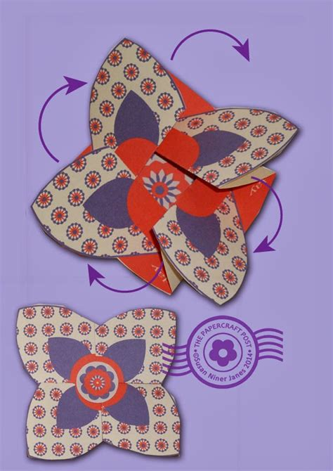 Twist Turn Card Template by The Papercraft Post Fold N Twist Cards
