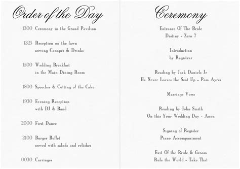 civil ceremony order of service search wedding ideas order of wedding ceremony