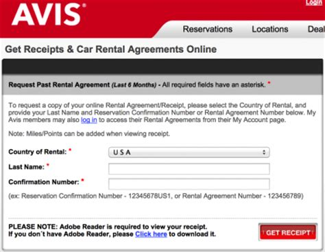 Car Rental Receipt Template Avis by Car Rental Invoice Pdf Hardhost Info