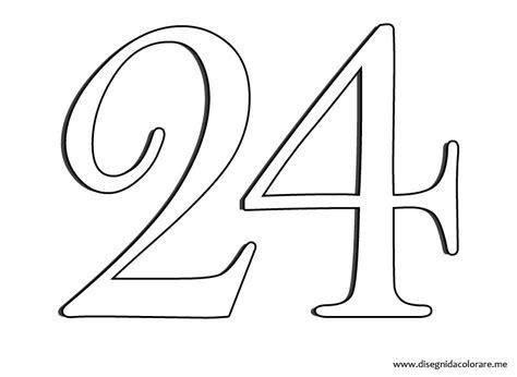los 100 da 21 8420417750 numero 24 disegni da colorare