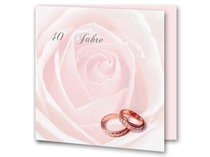 einladung rubinhochzeit einladung rubinhochzeit mit rosaner und ringen