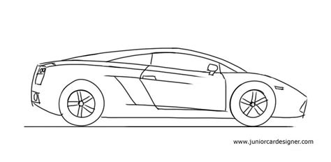 How Do You Draw A Lamborghini How To Draw A Lamborghini Gallardo Junior Car Designer