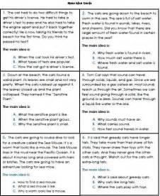 main idea worksheets 3rd grade 1 reading pinterest