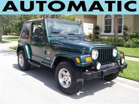 2000 Jeep Wrangler Automatic Purchase Used 2000 Jeep Wrangler 4 0l Automatic 4x4