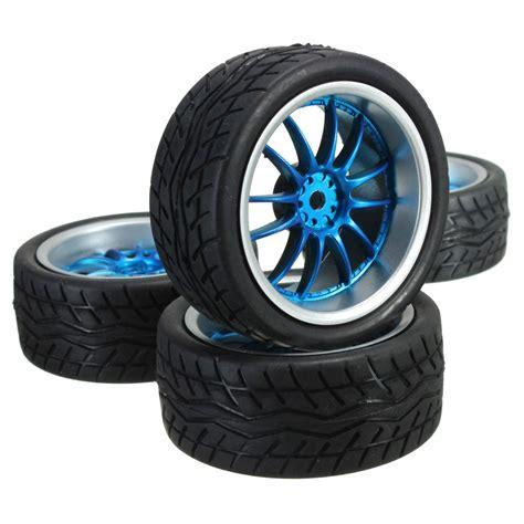 Wheels Racing Set 3 Pcs 4pcs rubber rc flat racing tires tyre wheel 12 spoke wheel
