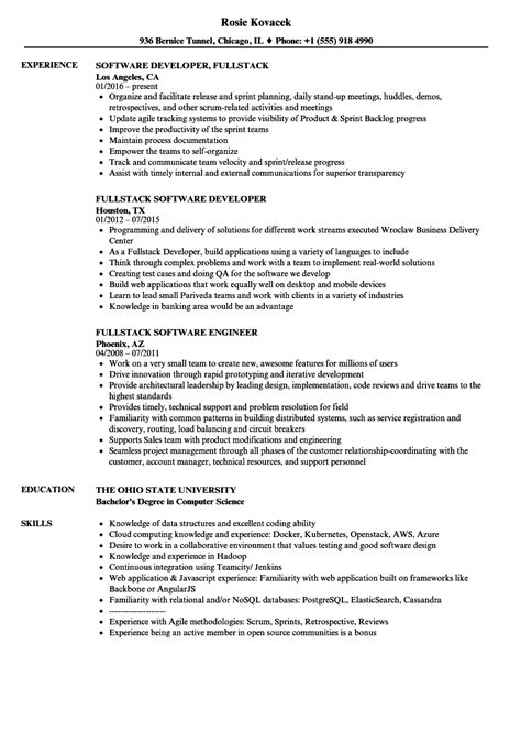 fullstack resume sles velvet