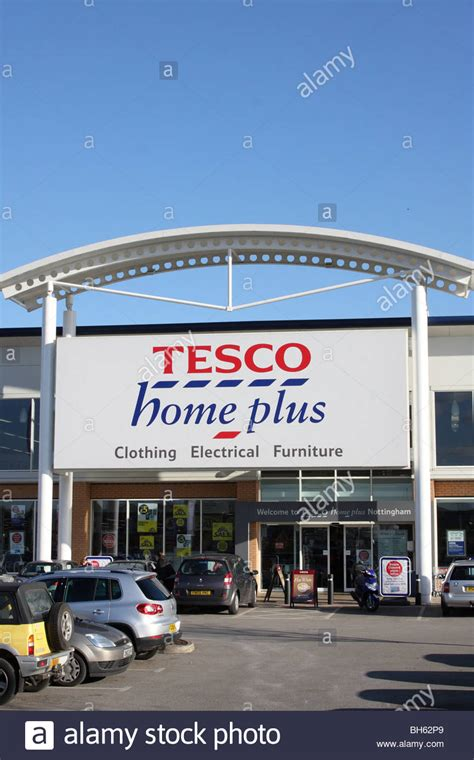 a tesco home plus store on a retail park in nottingham