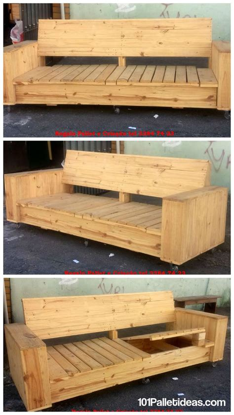 make a sofa out of pallets build a wooden pallet sofa on wheels 101 pallet ideas