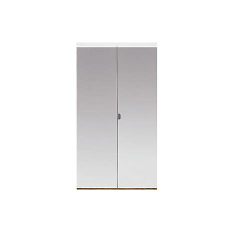 Beveled Mirror Closet Doors Impact Plus 36 In X 80 In Beveled Edge Mirror Solid Mdf Interior Closet Bi Fold Door With