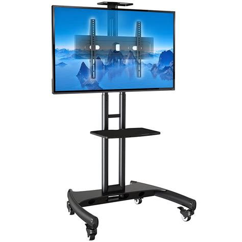 supporto tv da pavimento ava1500b supporto tv da pavimento con ruote per schermi