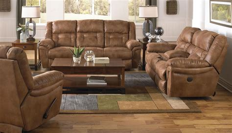 Power Reclining Living Room Set by Joyner Almond Power Reclining Living Room Set From