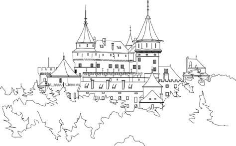 castle outline coloring page castle outline clip art at clker com vector clip art