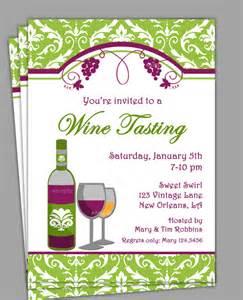 wine tasting invitation printable or printed with free