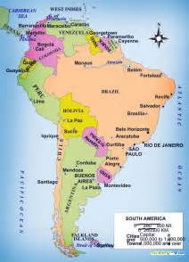 south america political map countries
