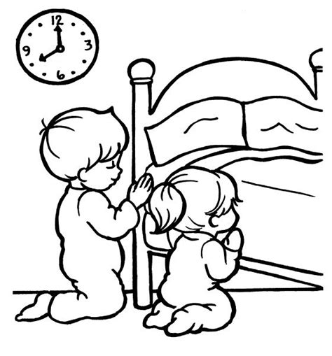 coloring page prayer children praying coloring page coloring home